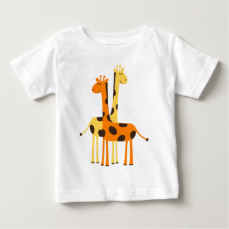 Cute Funny Giraffe Pair T-shirts