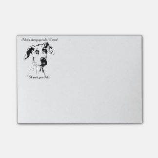 Cute Funny Great Dane Dog Quote  Spoiled Pet Humor Post-it® Notes