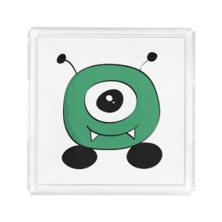 Cute Funny Green Alien