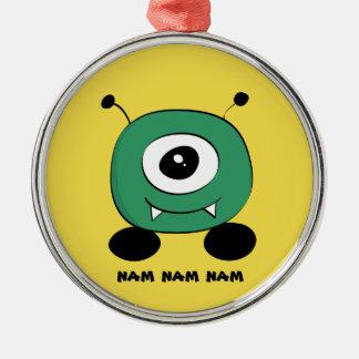 Cute Funny Green Alien Christmas Ornament