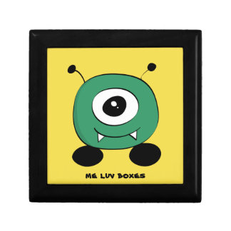 Cute Funny Green Alien Gift Box