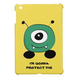Cute Funny Green Alien iPad Mini Cases