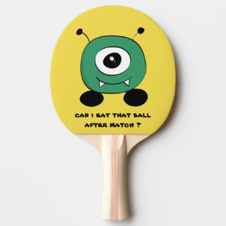 Cute Funny Green Alien Ping Pong Paddle