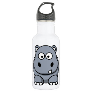 Cute Funny Hippo 532 Ml Water Bottle