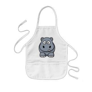 Cute Funny Hippo Kids Apron