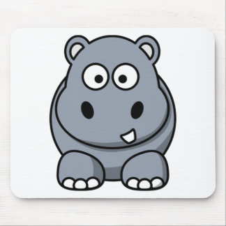 Cute Funny Hippo Mouse Mat