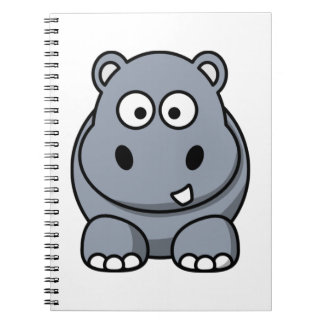 Cute Funny Hippo Notebooks