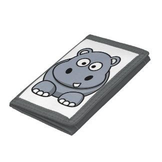 Cute Funny Hippo Tri-fold Wallet