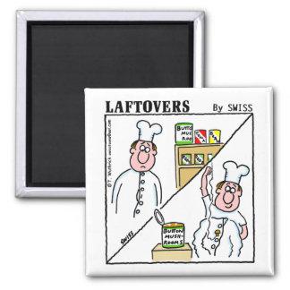 Cute Funny Laftovers Button Mushroom Cartoon Magnet