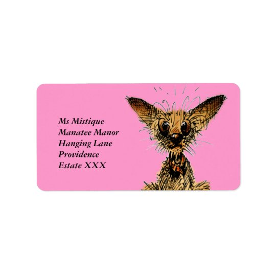 Cute funny little dog address label