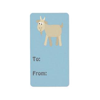 Cute Funny Little Goat Address Label