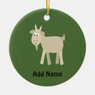 Cute Funny Little Goat Christmas Ornament