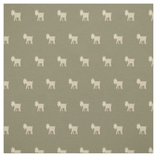 Cute Funny Little Goat Fabric
