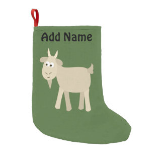 Cute Funny Little Goat Small Christmas Stocking