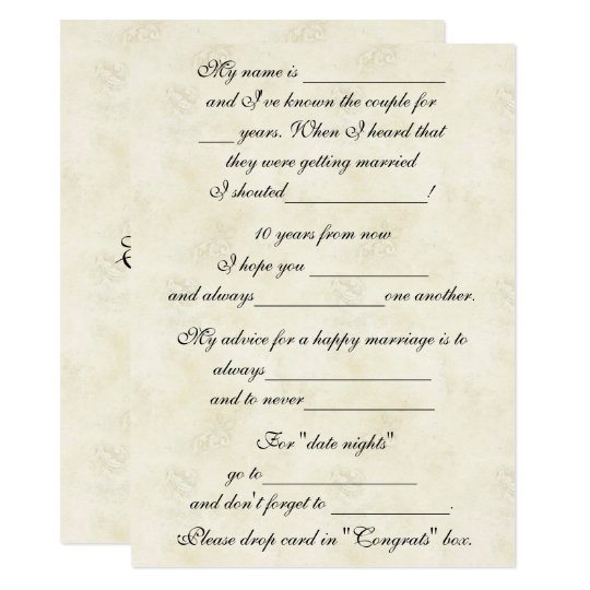 Cute, Funny Marriage Advice for Bride & Groom