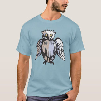 Cute Funny Medieval Style Owl Drawing T-Shirt