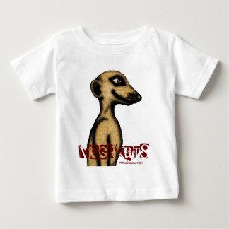 Cute funny meerkat baby t-shirt design