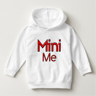 Cute funny Mini-Me red and white Toddler Hoddie Hoodie
