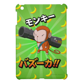 Cute Funny Monkey with Bazooka and Bananas iPad Mini Covers