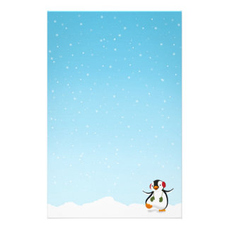 Cute Funny Penguin Winter - Stationery Letterhead