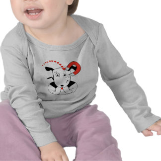 Cute Funny Puppy Dog Valentine's Day Baby T-shirts