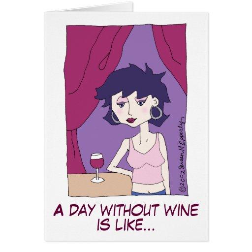Cute Funny Red Wine Vino Cartoon Girl