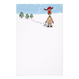 Cute Funny Reindeer Christmas Tree - Stationery