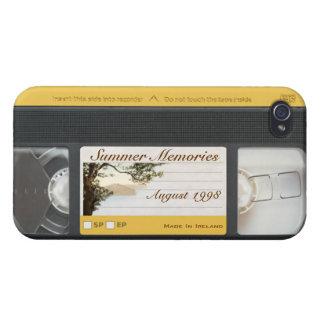 Cute Funny Retro Video VHS Cassette iPhone 4 Case