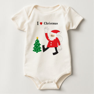 Cute & Funny Santa Claus with Christmas tree Creeper