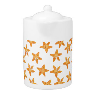 Cute funny sea cartoon  star pattern