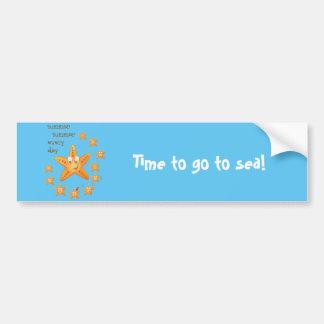 Cute funny sea star among little ones bumper sticker