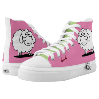 Cute Funny Sheep Printed Shoes