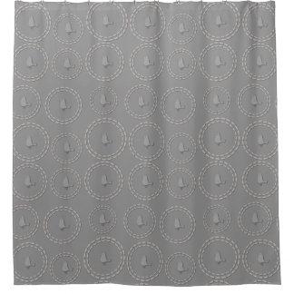 Cute Funny Silver Grey Bird Pattern Shower Curtain