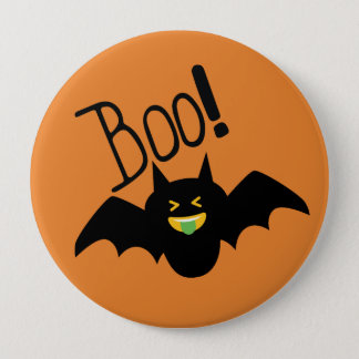 Cute Funny Smiling Bat Boo Halloween 10 Cm Round Badge