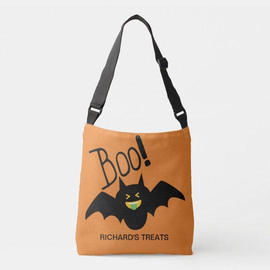 Cute Funny Smiling Bat Boo Halloween Candy Crossbody
