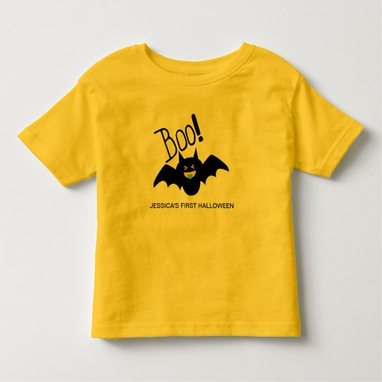 Cute Funny Smiling Bat First Halloween Toddler T-Shirt