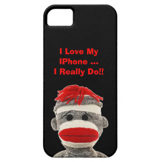 Cute & FUNNY Sock Monkey  I Phone 5 COVER Case For The iPhone 5