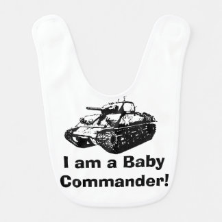 Cute Funny Tank Design on Baby's Bib. Bib