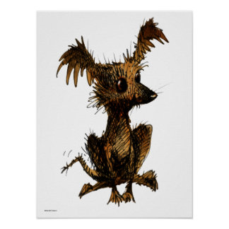 Cute Funny Toy Dog Poster