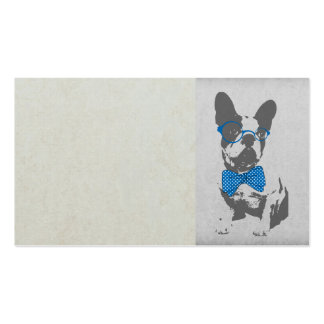 Cute funny trendy vintage animal French bulldog Business Card Templates