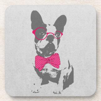 Cute funny trendy vintage animal French bulldog Coaster