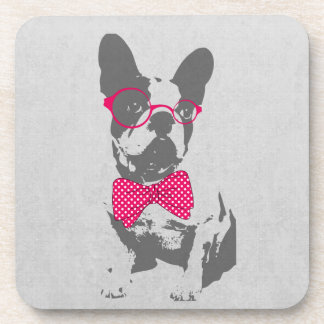 Cute funny trendy vintage animal French bulldog Coasters