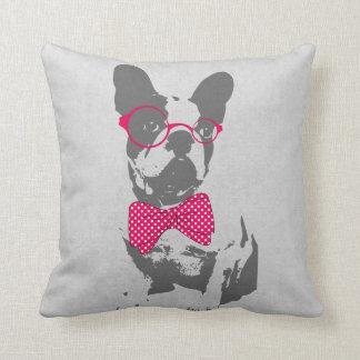 Cute funny trendy vintage animal French bulldog Cushion