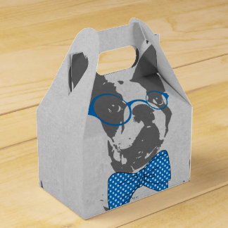 Cute funny trendy vintage animal French bulldog Favour Box