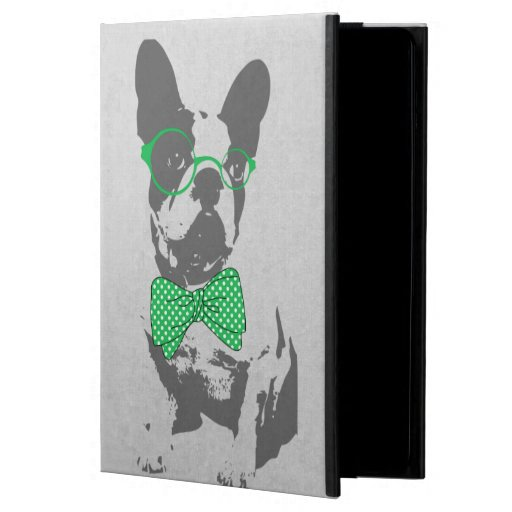 Cute funny trendy vintage animal French bulldog Cover For iPad Air