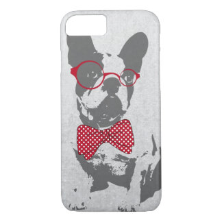 Cute funny trendy vintage animal French bulldog iPhone 8/7 Case