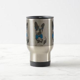 Cute funny trendy vintage animal French bulldog Stainless Steel Travel Mug