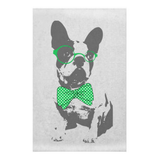 Cute funny trendy vintage animal French bulldog Stationery