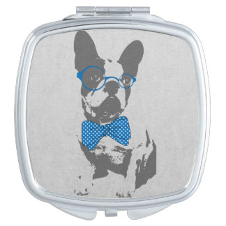 Cute funny trendy vintage animal French bulldog Travel Mirrors