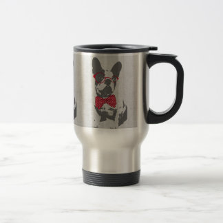 Cute funny trendy vintage animal French bulldog Travel Mug